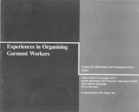 Experiences in Organising Garment Workers